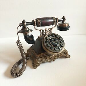 Vintage Fancy Telephone Antique Desk Phone Corded Phone Rotary Antique Dial