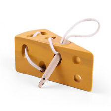 Wooden Threading Lacing Cheese and Mouse Educational Learning Toy