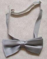 Vintage Bow Tie MENS Dickie Bowtie Adjustable Retro SILVER GREY