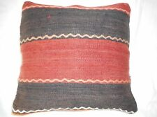 "Unique  Kilim Pillow Cover 16x16"" Case from Kilim Rug Hidden Zipper Amazing Work"