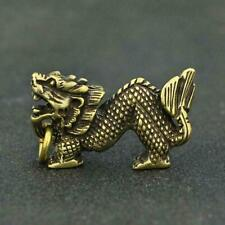 Chinese Brass Dragon Pendant Small Statue Old China Zodiac Collectible Antique