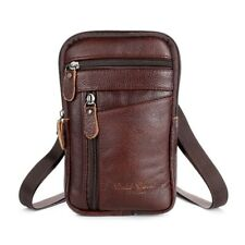 Stingray Skin Leather Fashion Phone Pouch Belt Bag Crossbody Shoulder Waist Pack