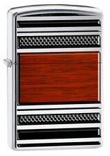 Zippo 28676, Steel & Wood  Design, High Polish Chrome Pipe Lighter