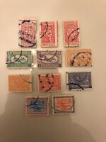 Saudi Arabia - Nejd - Early Estate Collection Lot Set Of 11 Used Older Stamps