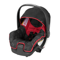 INFANT BABY CAR SEAT with Handle Pivoting Canopy Lightweight Red