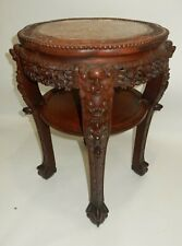 Antique Chinese large Rosewood and marble top table 32 inches