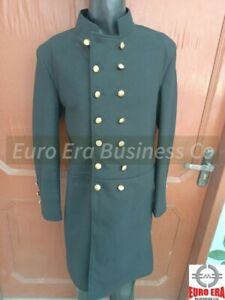 Black Wool Great Coat, Trench Naval Military Officer Frock Coat in all sizes