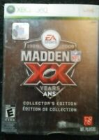 Madden XX Years 1989 to 2009 Collector's Edition & Slipcover Xbox 360 3 Cds