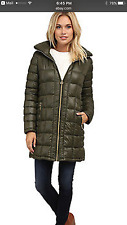 Women's Michael Kors  3/4 Quilted Down Hooded Packable Down Coat nwt reg L