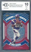 2007 finest moments refractors #ap ADRIAN PETERSON rookie BGS BCCG 10