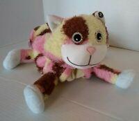 2007 Zoobies Furbie Feline Calico Cat Plush Soft Carrier No Blanket