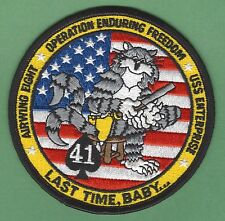 CVN-65 USS ENTERPRISE AIR WING 8 OPERATION ENDURING FREEDOM PATCH