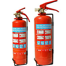 ABC POWDER FIRE EXTINGUISHER 1KG 2KG DRY SAFETY HOME OFFICE CAR MOUNT TAXI BOAT