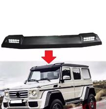 MERCEDES BENZ W463 G CLASS FRONT ROOF SPOILER WITH LED DRL Primed 2002-2017