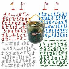 Lot of 200 Pc WWII Military Action Figures Army Men Plastic Toy Soldier Play Set