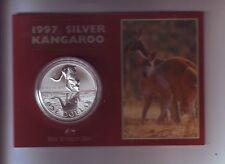 1997 1oz .999 Silver Coin $1 Kangaroo UNC Australia one ounce -