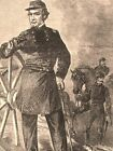 Major-General Halleck at canon Civil War military leaders 1862 historical print