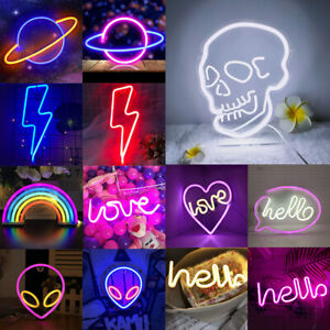 Neon LED Sign Wall Light Colorful Room Bar Lamp Easter Art Decor Multi-Style