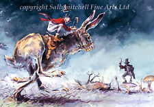 Funny Wildlife Hare Christmas cards pack of 10 by Jonathan Walker C447x