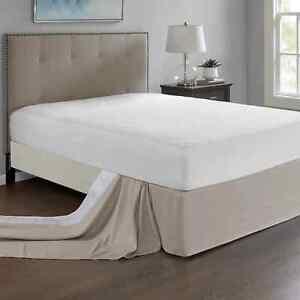 Madison Park Home Essence Simple Fit Wrap Around Adjustable Bedskirt- Khaki