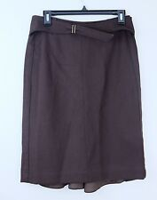 Donna Karen Brown Wool Skirt, Lined, Fishtail back, Size 4