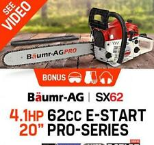 """62cc 20"""" Bar Chainsaw with e-Start Safety Kit Petrol EURO 2-2 Stroke Commercial"""