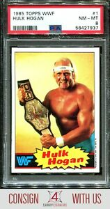 1985 TOPPS WWF #1 HULK HOGAN HOF PSA 8 A3122657-937