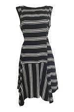Striped Petite Viscose Sleeveless Dresses for Women