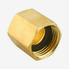 "Green Thumb 7FP7FHGT Brass Double Female 3/4"" Hose to 3/4"" Pipe Connector"