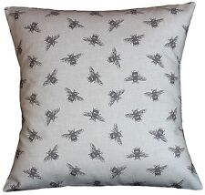 "Cushion cover in Fryetts Bee fabric 17"" / 43cm square"