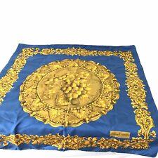 VINTAGE SILK JEANNE LANVIN PARIS SCARF Bold Colors Silk Soie