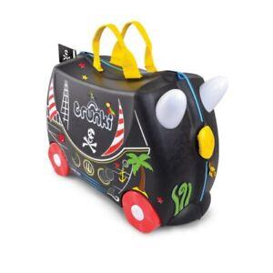 * NEW * Trunki Ride On Suitcase PEDRO PIRATE Kid's Luggage PLUS Pirate Stickers