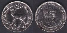 MAURITIUS   HALF RUPEE 1990  FDC / UNC