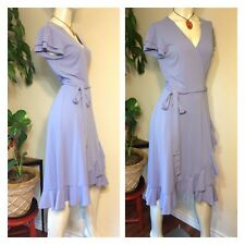 Lavender Ruffle Wrap Around Dress Size Large Spiegel Lolita Career Evening