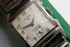 c.1956 vintage Lord Elgin 21 Jewel Mens Wristwatch - EXCELLENT & WORKING