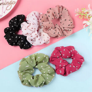 Organza Silk Solid Color Hair Tie Elastic Scrunchie Ponytail Holder Hair Band