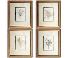 "LOT of 4 Vintage Mary Lou Goertzen Framed and Matted Botanical Prints 14""x12"""