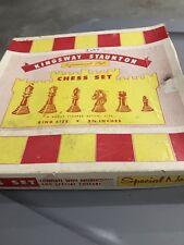 Vintage Kingsway Staunton - Tournament Style - King Size Chess Set - 2 3/4 inch