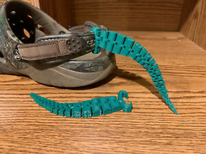Articulating Croc Tails shoe charm Tail fit all Crocs Fun crock accessory! Green