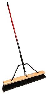 """24"""" Rough-Surface Push Broom with Two Color Handle"""