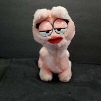 "Dakin Fun farm Arlene Garfield Plush Pink Cat Stuffed Animal Vintage 7"" Toy"