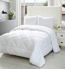 Queen Comforter Duvet Insert White - Quilted Comforter with Corner Tabs - Plush