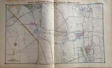 1914 MAP GREAT NECK ROSLYN MANHASSET MINEOLA NASSAU LONG ISLAND MOTOR PARKWAY NY