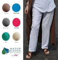 WATERSISTER Cotton Gauze SLIM Narrow Leg Pant 1(S/M) 2(L/XL) 3(1X+) DISC COLORS