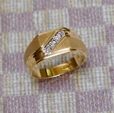 NEW MEN'S 14K YELLOW GOLD .10ct DIAMOND RING (size 10)