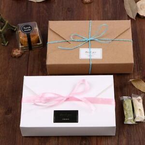 10Pcs Kraft Paper Cookie Boxes Packaging Storage Bags Envelope Xmas