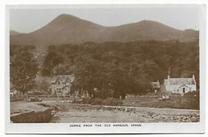 POSTCARD-ARRAN-CORRIE-RP. Corrie from The Old Harbour.