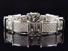 "Chain Sterling Silver 8 - 8.49"" Fine Diamond Bracelets"