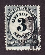 US O49 3c Post Office Department Used w/ Iron Cross Cancel