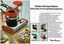 PUBLICITE  1976   MOULINEX  cafetière (2 pages)